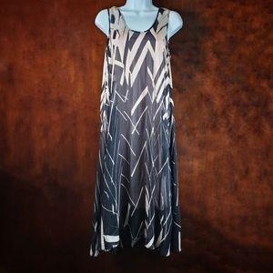 ANTHROPOLOGIE Floreat Serengeti Silk Midi Dress XS
